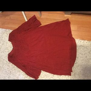 1X solid red dress super cute